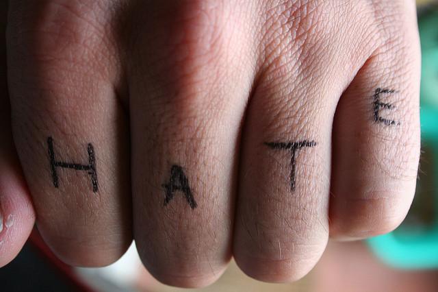 On hate…